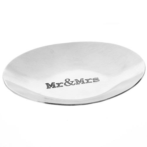 Mr. & Mrs. Stamped Small Oval Dish