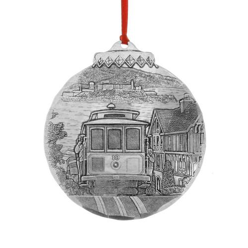 San Francisco Cable Car Souvenir Christmas Ornament