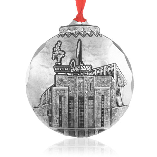 Cleveland Municipal Stadium Ornament Ornament by Jim Ptacek