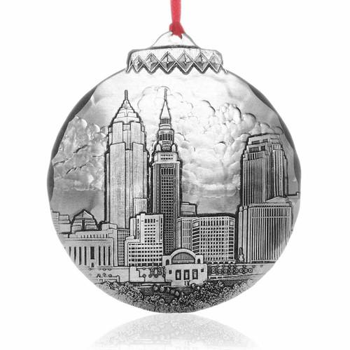 Cleveland Skyline Ornament by Jim Ptacek