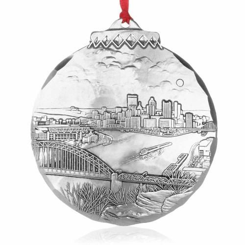 Pittsburgh's New Horizon Ornament by Linda Barnicott, Aluminum