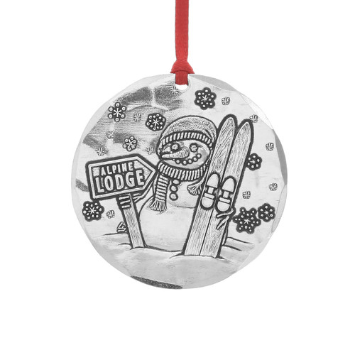 2016 Annual Christmas Ornament - Alpine Frost -  Aluminum