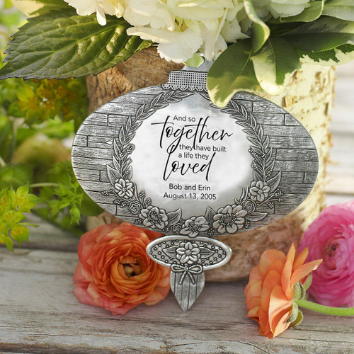 Rustic Charm Ornament - And so together they built a life they loved