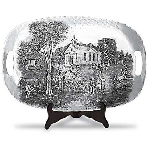 One-Room Schoolhouse Luncheon Tray