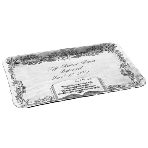 Personalized Baptism Tray