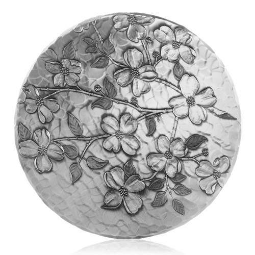 Round Metal Dogwood Kitchen Trivet