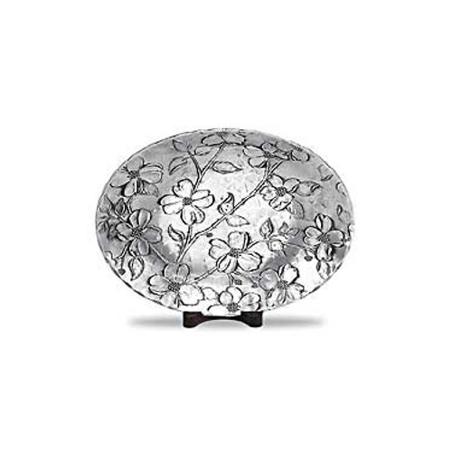 Dogwood Decorative Metal Bowl