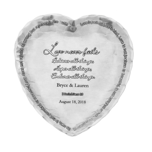 First Corinthians Personalized Heart Tray