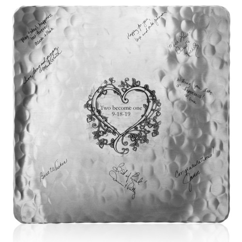 Personalized Signature Wedding or Anniversary Tray