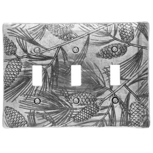 Designer Triple Switch Plate Cover Made in America Wendell August