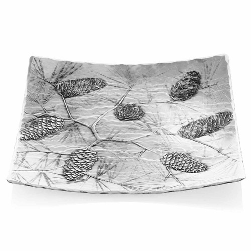 Pinecone Decorative Holiday Serving Plate
