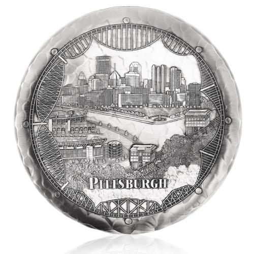 Pittsburgh Bridges Skyline Plate
