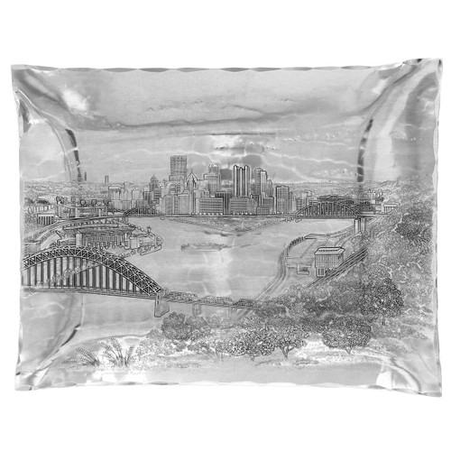 Pittsburgh Skyline Rectangular Hudson Tray