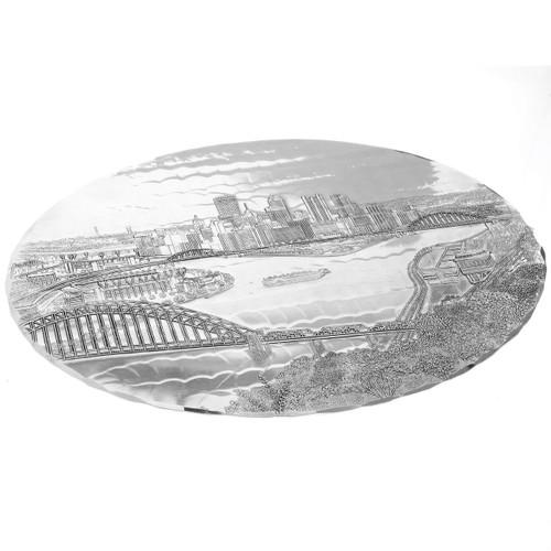 Pittsburgh Skyline Decorative Metal Trivet