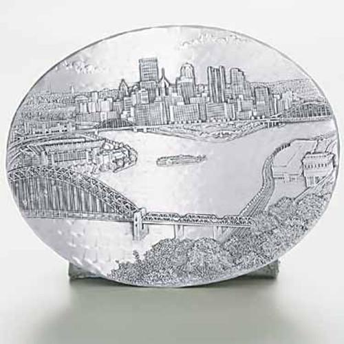 Pittsburgh Skyline Decorative Metal Hot Plate