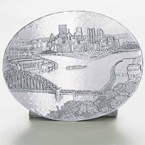 Pittsburgh Skyline Decorative Metal Hot Plate