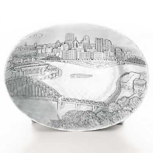 Pittsburgh Skyline Medium Oval Dish