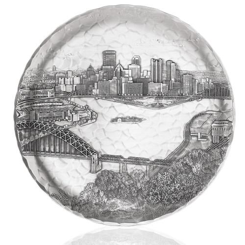 Pittsburgh Skyline Decorative Round Plate