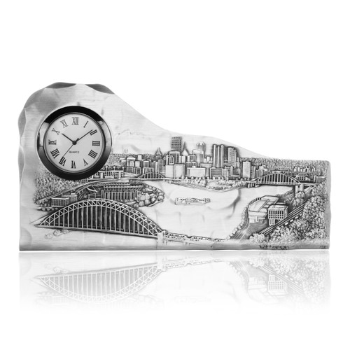 Designer Clock Pittsburgh Gift Made in PA by Wendell August Forge