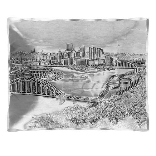 Pittsburgh skyline accessory tray