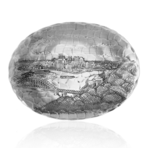 Pittsburgh Skyline Small Oval Dish