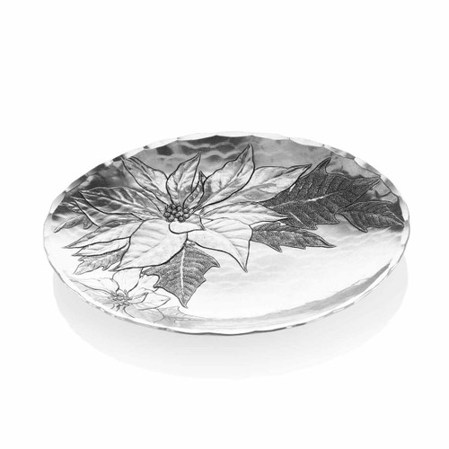 Holiday Poinsettia Decorative Accent Bowl