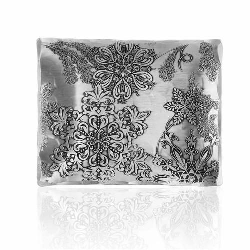 Snowflake design holiday accessory tray