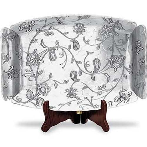 Vintage floral tapestry design tray