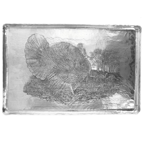 Large Metal Turkey Platter