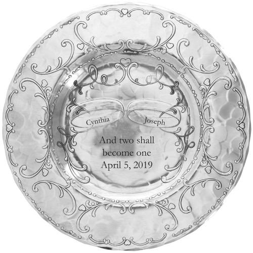 Engraved Keepsake Wedding Plate