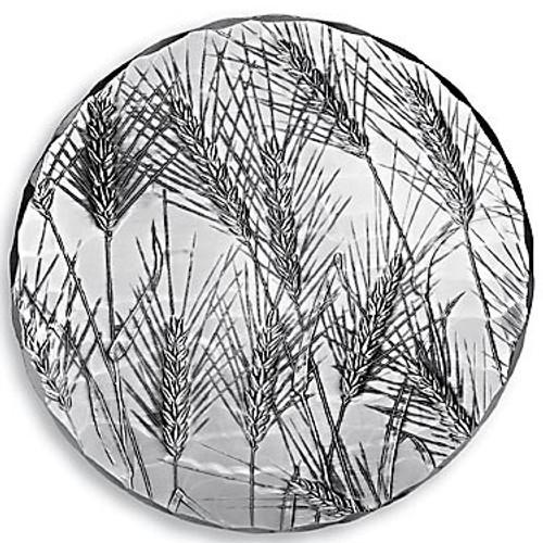 Round Metal Kitchen Trivet - Wheat