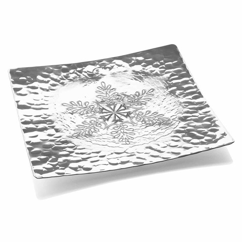 Snowflake 15 Inch Square Tray