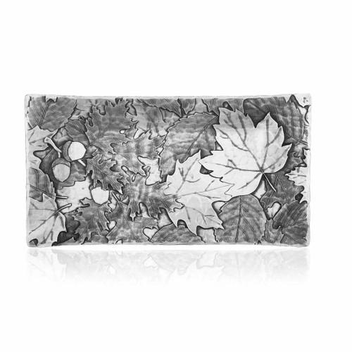 Acorn and oak leaf engraved serving platter