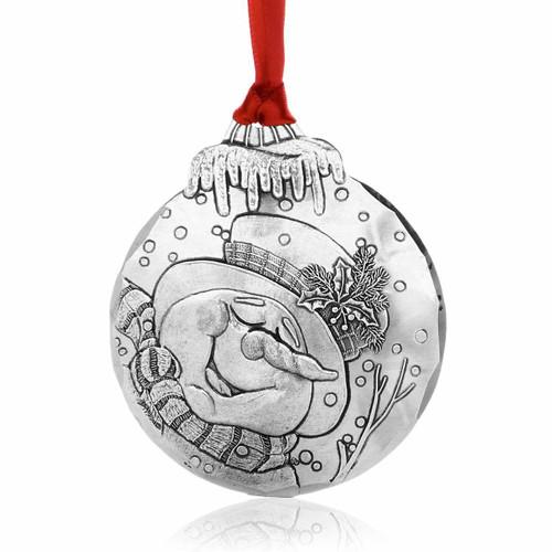 Dreaming Snowman Christmas Ornament