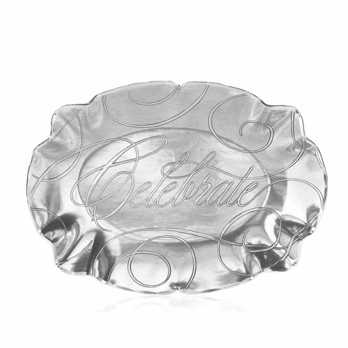 Celebration Small Oval Baroque Tray