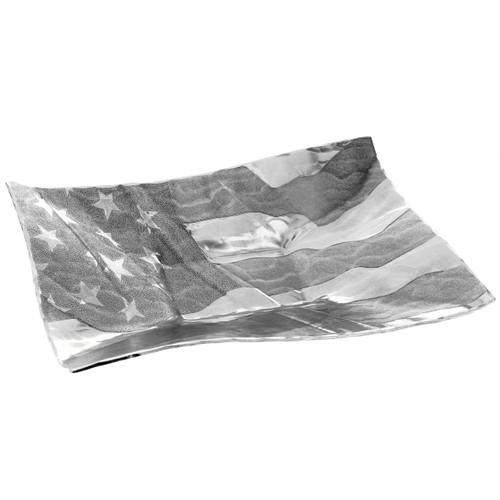 American Flag Hostess Dish