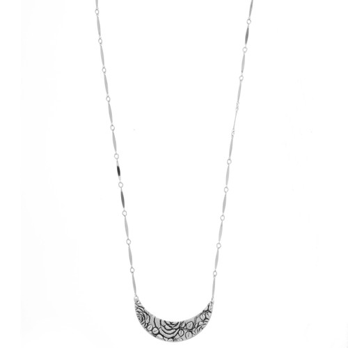 Rose Thin Crescent Necklace