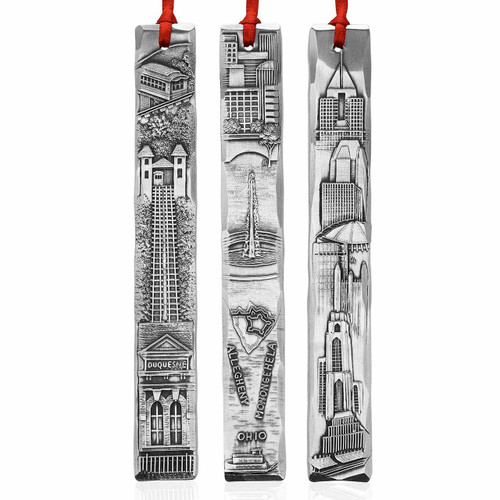 Pittsburgh Metal Icicle Christmas Ornament et