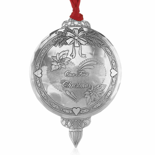 Personalized First Christmas Metal Keepsake Ornament