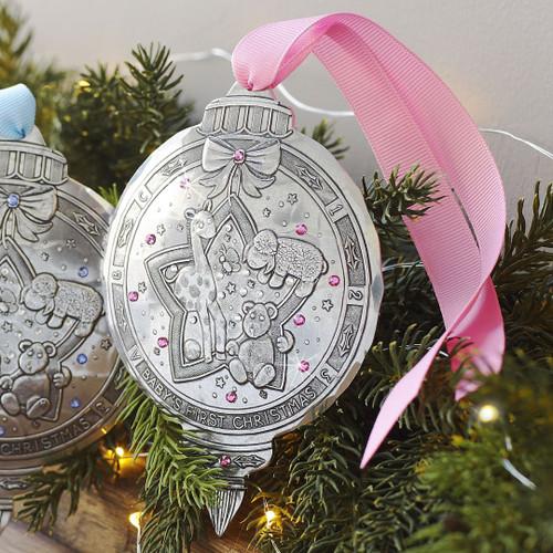 Baby Girl First Christmas Keepsake Ornament,  Christmas ornament, ornament, baby's first ornament, it's a girl, shower gift, newborn gift,  newborn ornament