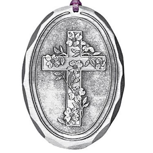 Dogwood Cross Religious Christmas Ornament