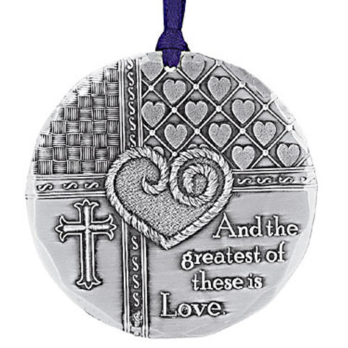 Greatest is Love Religious Keepsake Christmas Ornament