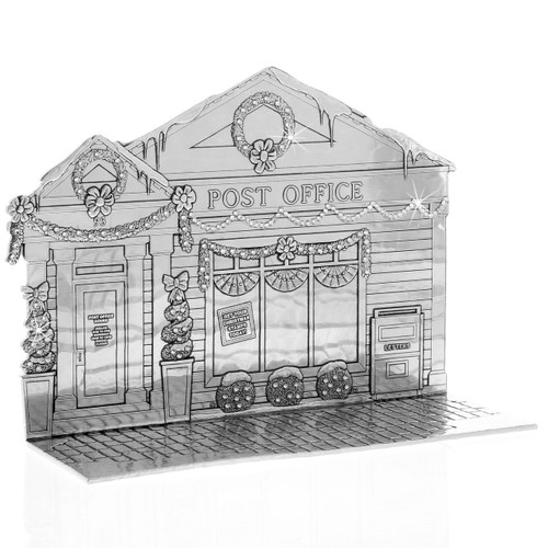 The Magic Christmas Village Post Office with  Crystals