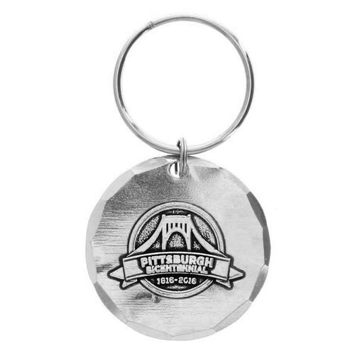 Pittsburgh Bicentennial Round Key Ring