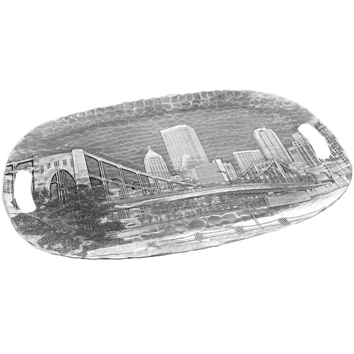 Pittsburgh's Andy Warhol Bridge from the Allegheny Luncheon Tray