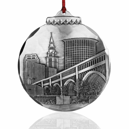Cleveland's Veterans Memorial Bridge Ornament by Jim Ptacek