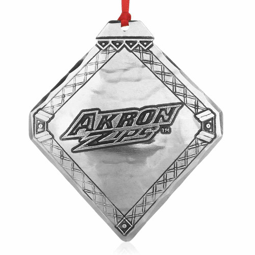 University of Akron Zips Collectible Christmas Ornament