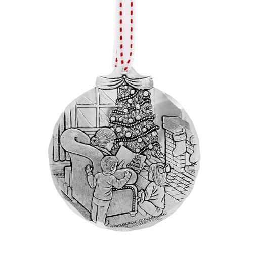 Story Time Before Santa Ornament