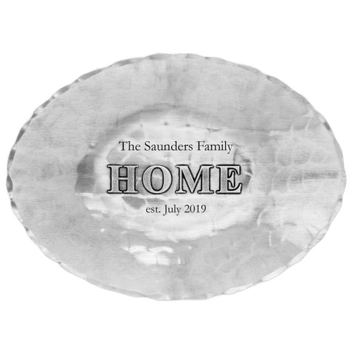 Personalized Home Oval Dish