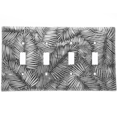 Tropical Breeze Quad Switch Plate Cover (Aluminum)